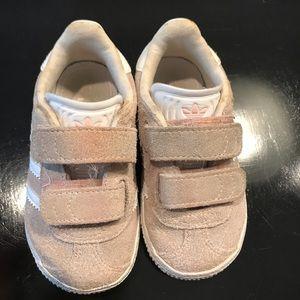 Adidas Gazelle Baby Pink Walker Girl Shoe Velcro